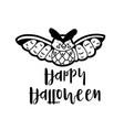 cartoon owl wishing happy halloween vector image