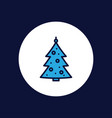 christmas tree icon sign symbol vector image