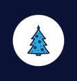 christmas tree icon sign symbol vector image vector image