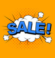 comic sale discount cartoon vector image