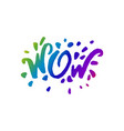 concept of wow phrase word vector image vector image