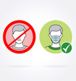 covid19 facemask required signs vector image