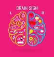 Creative left and right brain Idea concept vector image vector image