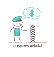 customs officer vector image