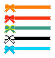 cute colorful bow with ribbon on white background vector image vector image