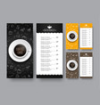 design of a narrow menu for a cafe or restaurant vector image vector image