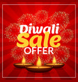 diwali sale offer discount marketing template vector image vector image