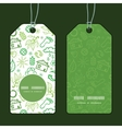 ecology symbols vertical round frame pattern tags vector image vector image