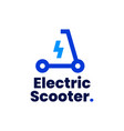 electric scooter logo icon vector image