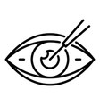 eyeball care icon outline style vector image vector image
