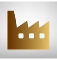 Factory sign Flat style icon vector image vector image