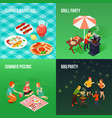 family picnic isometric concept vector image vector image