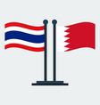 flag of bahrain and thailandflag stand vector image vector image