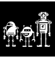 Flat design style robots and cyborgs vector image