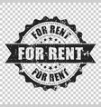 for rent scratch grunge rubber stamp on isolated vector image vector image