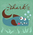 funny cute fish characters s vector image