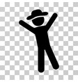 gentleman joy icon vector image vector image