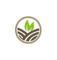 green leaf nature farmland logo vector image