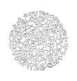 Handwritten calligraphic script vector image