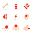 health problem icons set cartoon style vector image vector image