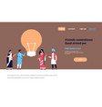 indian people group brainstorming new idea light vector image