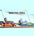 kart racing vector image vector image