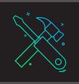 labour tools icon design vector image vector image