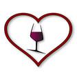 love wine vector image vector image