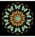 Mandala of Golden Butterflies vector image vector image
