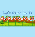 math count number to ten vector image vector image