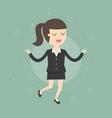 meditating businesswoman vector image