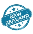 NEW ZEALAND round stamp vector image