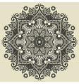 ornamental geometric doily pattern vector image vector image
