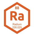 Periodic table radium vector image vector image
