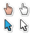 Pixel coursors icons - hand and arrow vector | Price: 1 Credit (USD $1)