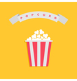 Popcorn box Big round wave white ribbon line with vector image vector image