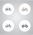 realistic timbered hybrid velocipede fashionable vector image vector image