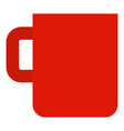 red mug cup icon flat style vector image vector image