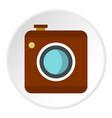 retro camera icon circle vector image vector image