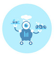 robot cook icon modern robotic mechanism vector image