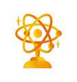 science golden award trophy science vector image vector image