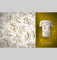 seamless pattern gold glitter floral elements vector image vector image