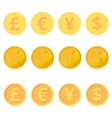 Set of coins vector image vector image