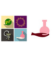 set of medecine icons medecine sign dna tube and vector image vector image