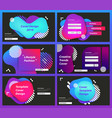 set web page design templates for business vector image vector image