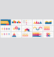 set yellow pink purple and blue elements for vector image vector image