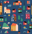 small tiny houses pattern cover vector image vector image