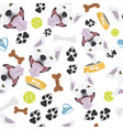smiling dog bull terrier vector image vector image