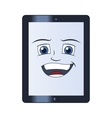 Smiling tablet computer vector image vector image