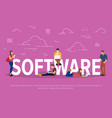 software concept business vector image